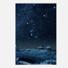 Winter sky with Orion con Postcards (Package of 8)