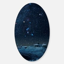 Winter sky with Orion constellation Sticker (Oval)