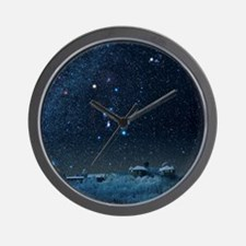 Winter sky with Orion constellation Wall Clock