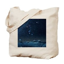 Winter sky with Orion constellation Tote Bag