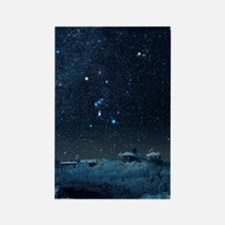Winter sky with Orion constellati Rectangle Magnet