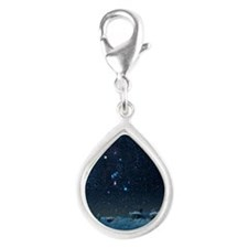 Winter sky with Orion const Silver Teardrop Charm