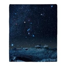 Winter sky with Orion constellation Throw Blanket