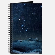 Winter sky with Orion constellation Journal