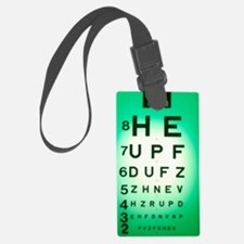View of a Snellen eye test chart Luggage Tag