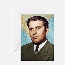 Wernher von Braun, German rocket pio Greeting Card