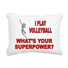 VOLLEYBALL WHATS YOUR SU Rectangular Canvas Pillow