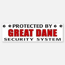 Great Dane Security Bumper Bumper Sticker