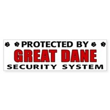Great Dane Security Bumper Sticker