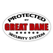 Great Dane Security Decal