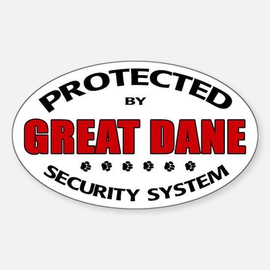 Great Dane Security Sticker (Oval)