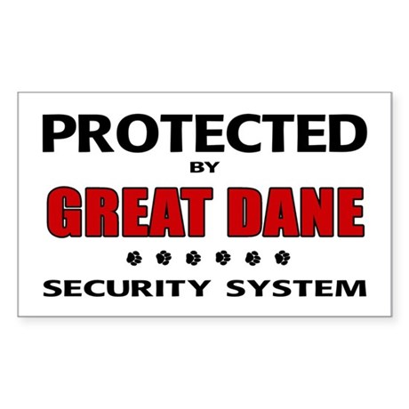 Great Dane Security Sticker (Rectangle)