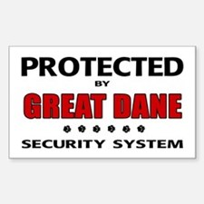 Great Dane Security Sticker (Rectangle)