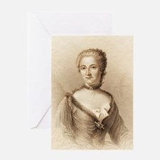 Emilie du Chatelet, French physicist Greeting Card