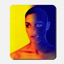 Wire-frame face Mousepad