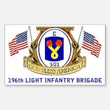196th LIGHT INFANTRY C 3/21 Sticker (Rectangle)