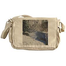 Spring Snow Messenger Bag