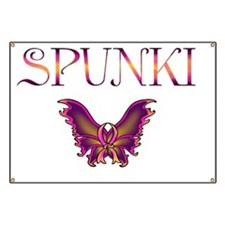 Spunki  Breast Cancer Design, pink and yell Banner