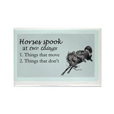 Spooking horse Rectangle Magnet