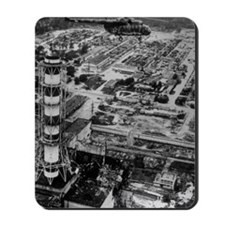 Aerial view of Chernobyl soon after the  Mousepad