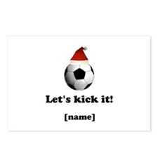 Personalized Lets Kick It! - Xmas Postcards (Packa