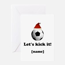 Personalized Lets kick it! - Xmas Greeting Cards