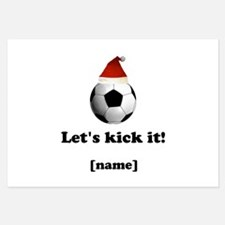 Personalized Lets Kick It! - Xmas Invitations