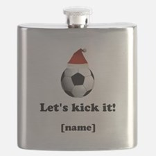 Personalized Lets kick it! - Xmas Flask