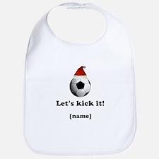 Personalized Lets kick it! - Xmas Bib