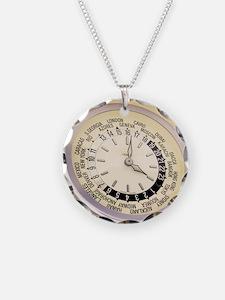 World clock Necklace