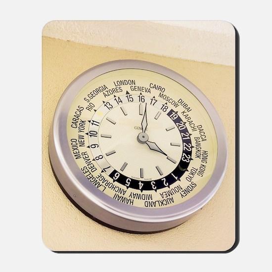 World clock Mousepad