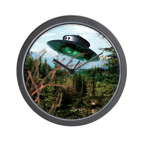 Alien spaceship Wall Clock