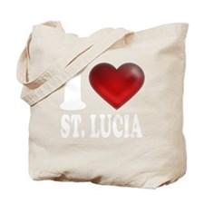 I Heart St. Lucia Tote Bag