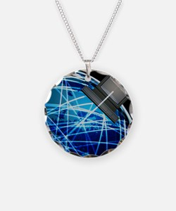 Abstract artwork of the Inte Necklace