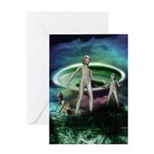 Alien invasion Greeting Card