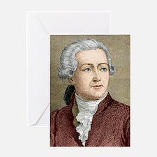 Antoine Lavoisier, French chemist Greeting Card