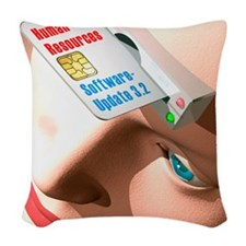 Android software update Woven Throw Pillow