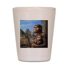 Australopithecus afarensis, artwork Shot Glass