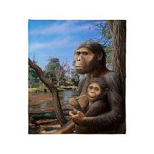 Australopithecus afarensis, artwork Throw Blanket
