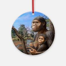 Australopithecus afarensis, artwork Round Ornament