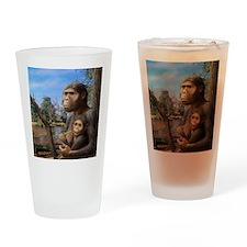 Australopithecus afarensis, artwork Drinking Glass