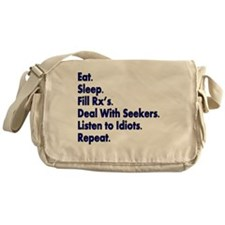 Pharmacist eat sleep deal with seeke Messenger Bag