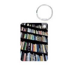 Books on bookshelves Keychains