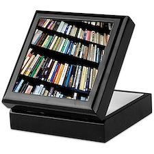 Books on bookshelves Keepsake Box