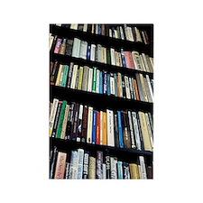 Books on bookshelves Rectangle Magnet
