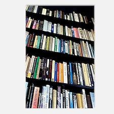 Books on bookshelves Postcards (Package of 8)