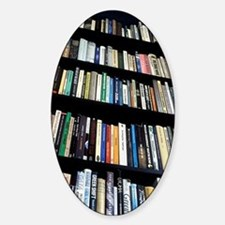 Books on bookshelves Decal