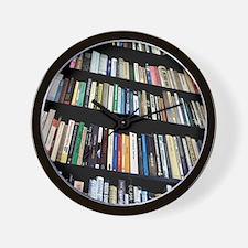 Books on bookshelves Wall Clock