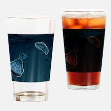 Aquatic alien life forms, artwork Drinking Glass