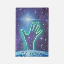 Abstract artwork of hand reaching Rectangle Magnet